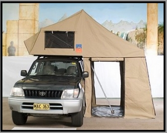 & Top Dog Rooftop tent by 3 Dog Campers